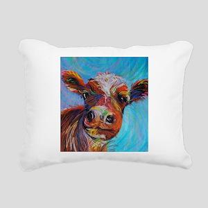 Bessie the Cow Rectangular Canvas Pillow
