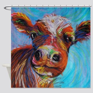 Bessie The Cow Shower Curtain