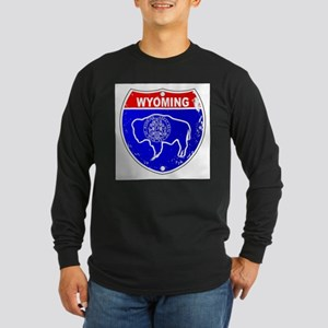 Wyoming Flag Icons As Intersta Long Sleeve T-Shirt