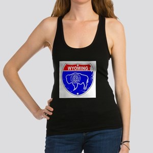 Wyoming Flag Icons As Interstat Racerback Tank Top