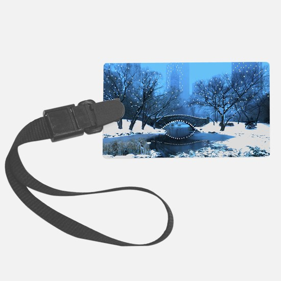 Central Park NY Bridge at Twilig Luggage Tag