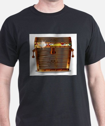 Full Pirates Treasure Chest T-Shirt