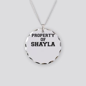 Property of SHAYLA Necklace Circle Charm