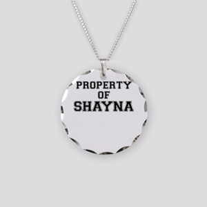 Property of SHAYNA Necklace Circle Charm