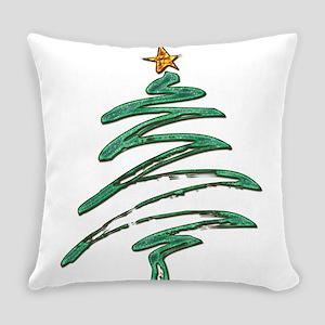 Swished Xmas Tree Logo copy Everyday Pillow