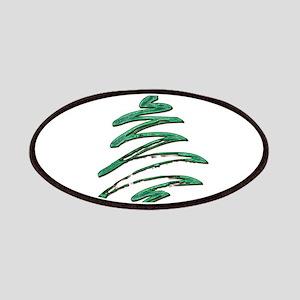 Swished Xmas Tree Logo copy Patch