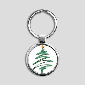 Swished Xmas Tree Logo copy Keychains
