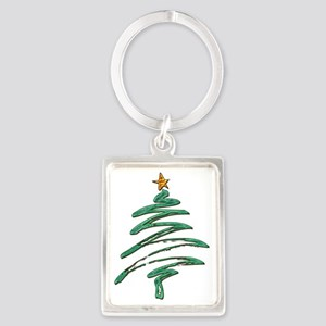 Swished Xmas Tree Logo copy Keychains