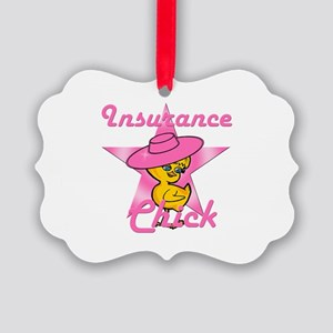 Insurance Chick #8 Picture Ornament