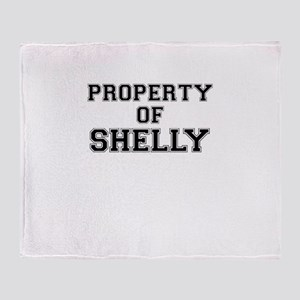 Property of SHELLY Throw Blanket