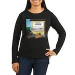 Taxidermist Model Women's Long Sleeve Dark T-Shirt