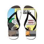Taxidermist Models Wanted Sign Flip Flops