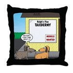 Taxidermist Models Wanted Sign Throw Pillow