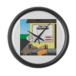 Taxidermist Models Wanted Sign Large Wall Clock