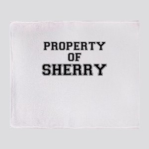 Property of SHERRY Throw Blanket