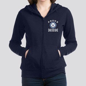 Proud US Navy Mom Women's Zip Hoodie