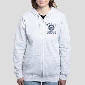 Proud US Navy Mom Women's Zip Hoodie