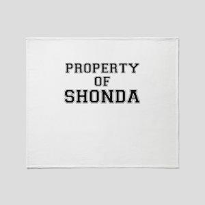 Property of SHONDA Throw Blanket