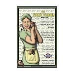 Kitchen Ferret Mini Poster Print