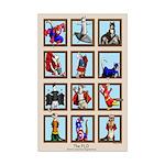 Halloween Ferrets Mini Poster Print
