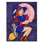 Witch, Cat and Ruby Moon Posters