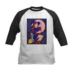 Witch, Cat and Ruby Moon Baseball Jersey