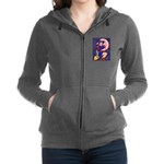 Witch, Cat And Ruby Moon Women's Zip Hoodie