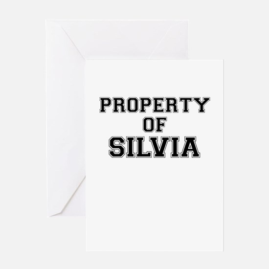 Property of SILVIA Greeting Cards