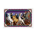 4 Horse-Ferrets Mini Poster Print