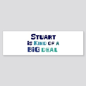 Stuart is a big deal Bumper Sticker