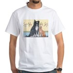 Dog n Mog #1 We're pals. Yes, White T-Shirt