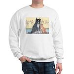 Dog n Mog #1 We're pals. Yes, Sweatshirt