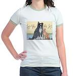 Dog n Mog #1 We're pals. Yes, Jr. Ringer T-Shirt