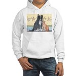 Dog n Mog #1 We're pals. Yes, Hooded Sweatshirt