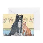 Dog n Mog #1 We're pals. Yes, Greeting Cards (Pk o