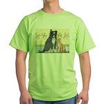 Dog n Mog #1 We're pals. Yes, Green T-Shirt