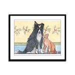 Dog n Mog #1 We're pals. Yes, Framed Panel Print