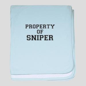 Property of SNIPER baby blanket