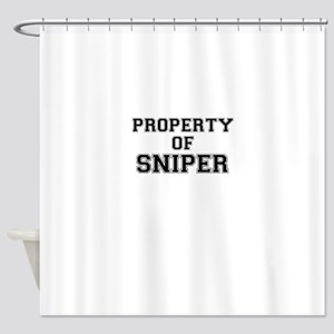 Property of SNIPER Shower Curtain