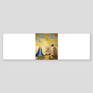 Tibetan Christmas Nativity Bumper Sticker