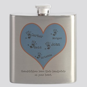 Grandchildren Leave Handprints - 5 children Flask