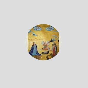 Tibetan Christmas Nativity Mini Button