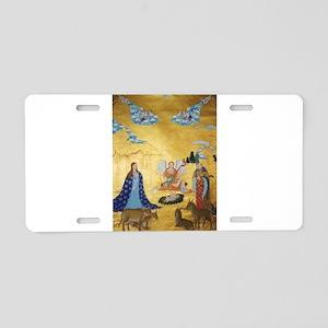 Tibetan Christmas Nativity Aluminum License Plate