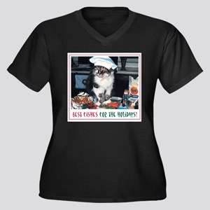 Holiday Kitty - Best Fishes! Women's Plus Size V-N