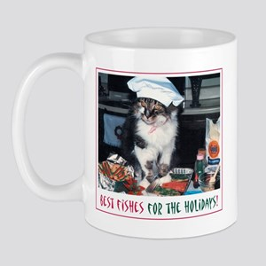 Holiday Kitty - Best Fishes! Mug