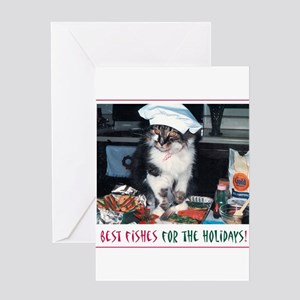Holiday Kitty - Best Fishes! Greeting Card
