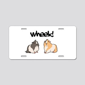Wheek Guinea pigs Aluminum License Plate