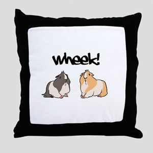 Wheek Guinea pigs Throw Pillow