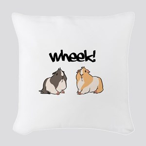 Wheek Guinea pigs Woven Throw Pillow