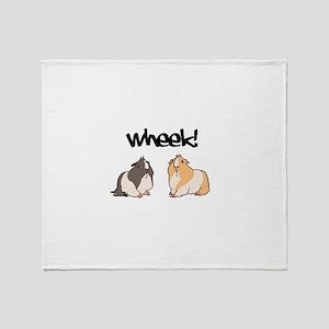 Wheek Guinea pigs Throw Blanket
